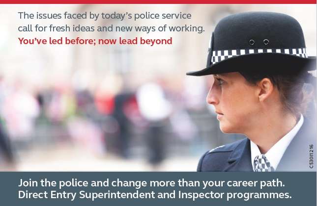 Can you see yourself as a police inspector?
