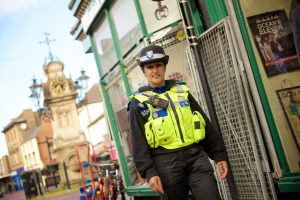 PCSO Suki Lally on patrol in Willenhall town centre.
