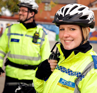 Officers on bike