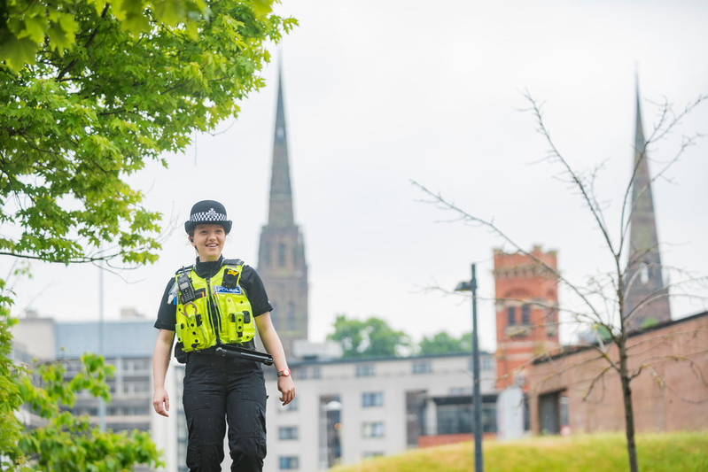 Officer Walking in Coventry
