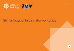 College of policing - Sikh articles of faith in the workshop